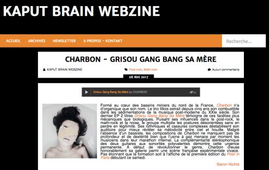 Kaput Brain Webzine